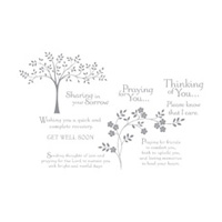Thoughts & Prayers Wood-mount Stamp Set