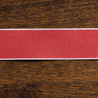 "Cherry Cobbler 1"" Grosgrain Stitched Edge Ribbon"