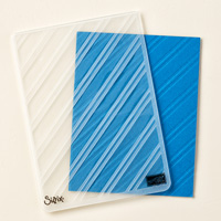 Stylish Stripes Textured Impressions Embossing Folder