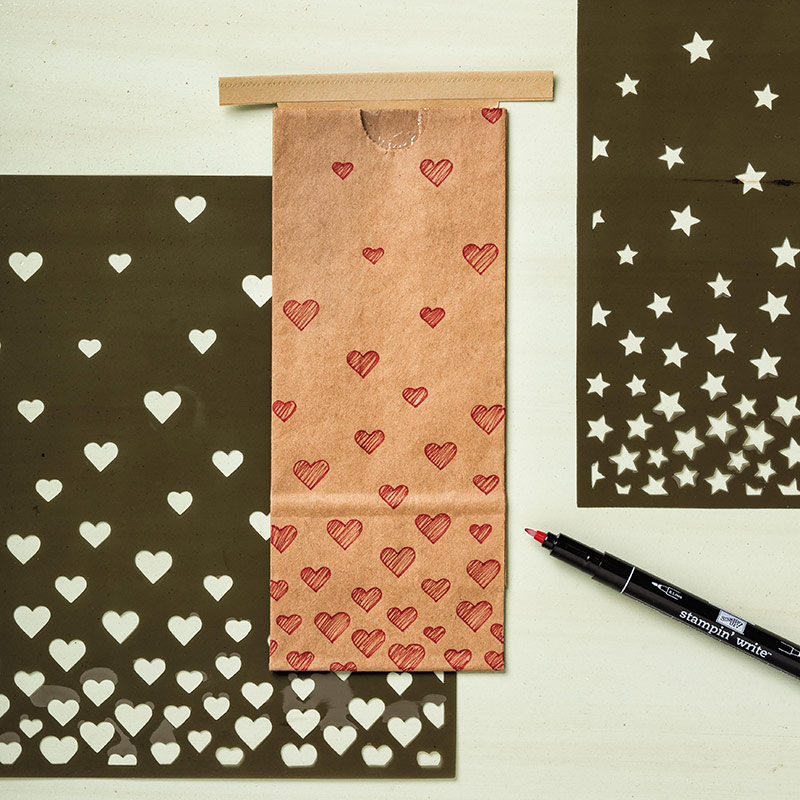Hearts & Stars Decorative Masks