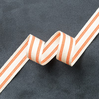 "Tangelo Twist 5/8"" Striped Cotton Ribbon by Stampin' Up!"
