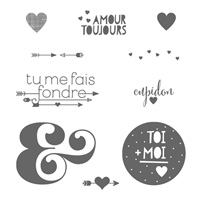 Toi Plus Moi Clear Stamp Set