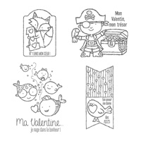 Petits Valentins Clear Stamp Set (French)