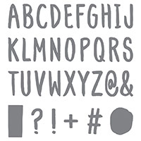 Layered Letters Alphabet Photopolymer Stamp by Stampin' Up!