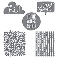 I Think You're Great Wood-Mount Stamp Set by Stampin' Up!