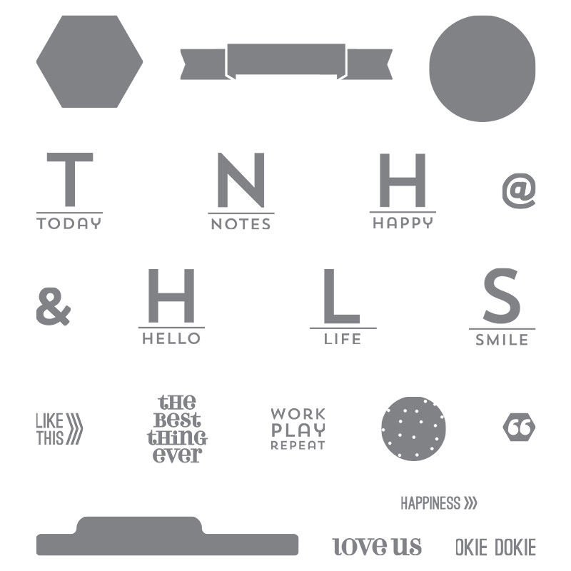 Project Life This is the Life stamp set, Stampin' Up!