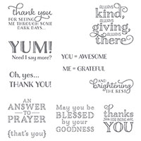 Me = Grateful Wood-Mount Stamps by Stampin' Up!