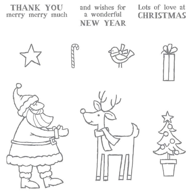 Santa's Gifts photopolymer stamp set, Stampin' Up!