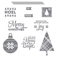 Lots of Joy Wood-Mount Stamp Set by Stampin' Up!