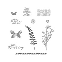 Butterfly Basics Wood-Mount Stamp Set