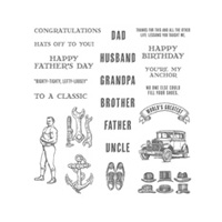 Guy Greetings Clear-Mount Stamp Set