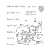 From the Herd Wood Stamp Set by Stampin' Up!
