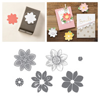 Petal Potpourri Wood Stamp Set and Flower Medallion Punch Bundle