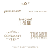 Simply Wonderful Clear Stamp Set