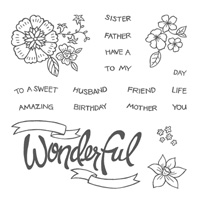 You're Wonderful Photopolymer Stamp Set 139158 from Wild West Paper Arts
