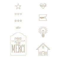 Eurêka Clear Stamp Set (French)
