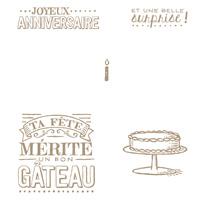 Grande Journée Clear Stamp Set (French)