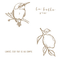 La Belle Vie Clear Stamp Set (French)