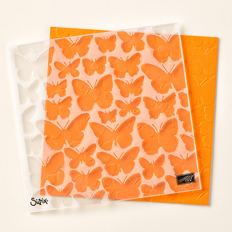 Fluttering Textured Impressions Embossing Folder