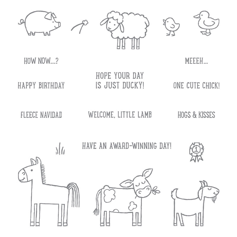 Barnyard Babies stamp set, Stampin' Up!