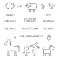 Barnyard Babies Clear-Mount Stamp Set by Stampin' Up!