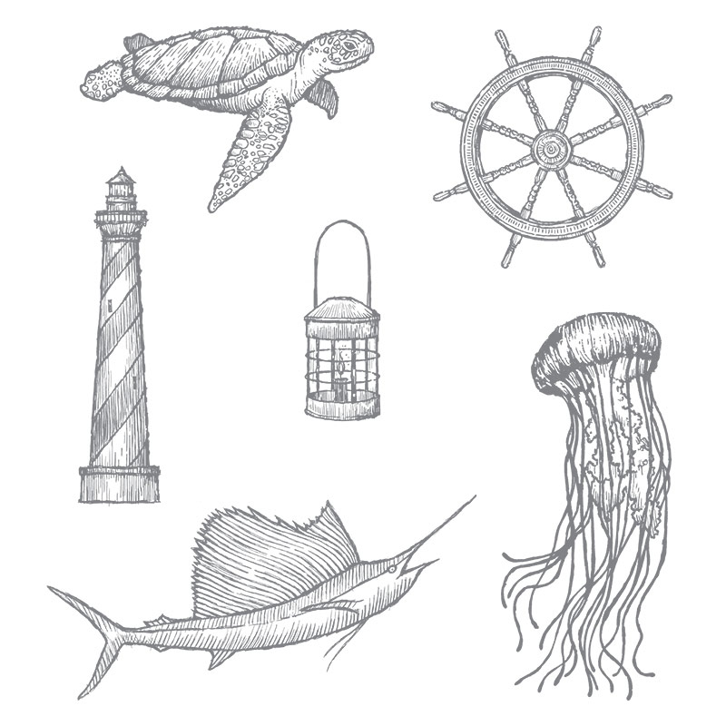 From Land to Sea, Stampin' Up!