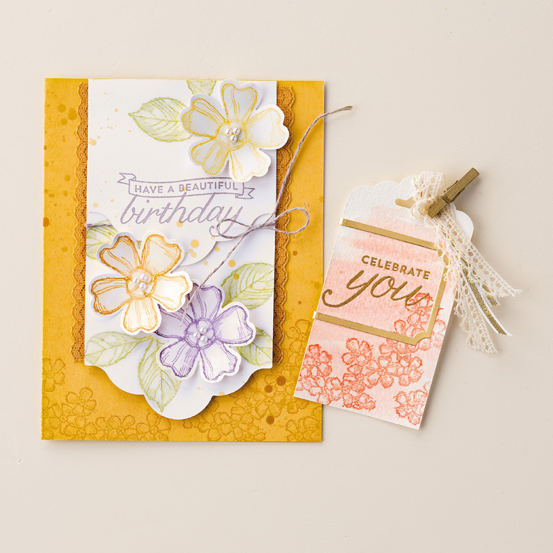 Birthday Blossoms ClearMount Stamp Set by Stampin Up – Stampin Up Birthday Card