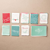 Hello December  2015 Project Life Card Collection by Stampin' Up!