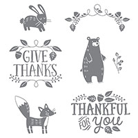 Thankful Forest Friends Clear-Mount Stamp Set by Stampin' Up!