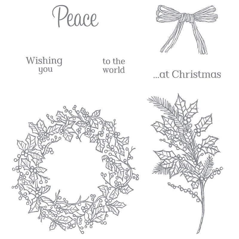 Peaceful Wreath Stamp Set, Stampin' Up!
