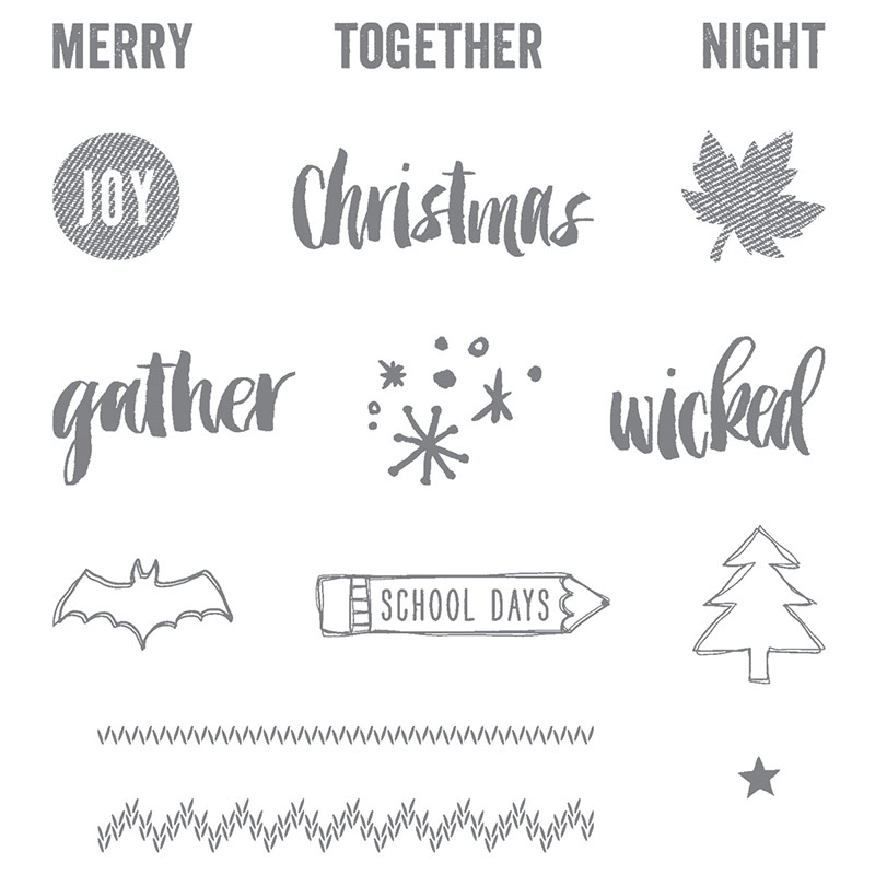 Project Life Seasonal Snapshot 2015 stamp set, Stampin' Up!