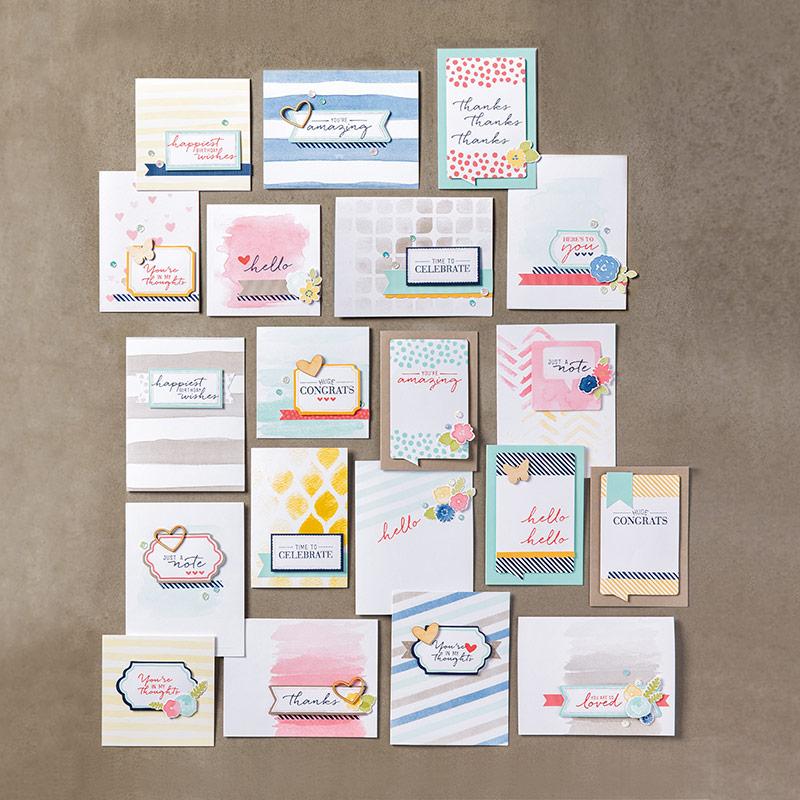 Kit Pour Cartes Pensées Au Pinceau (French)