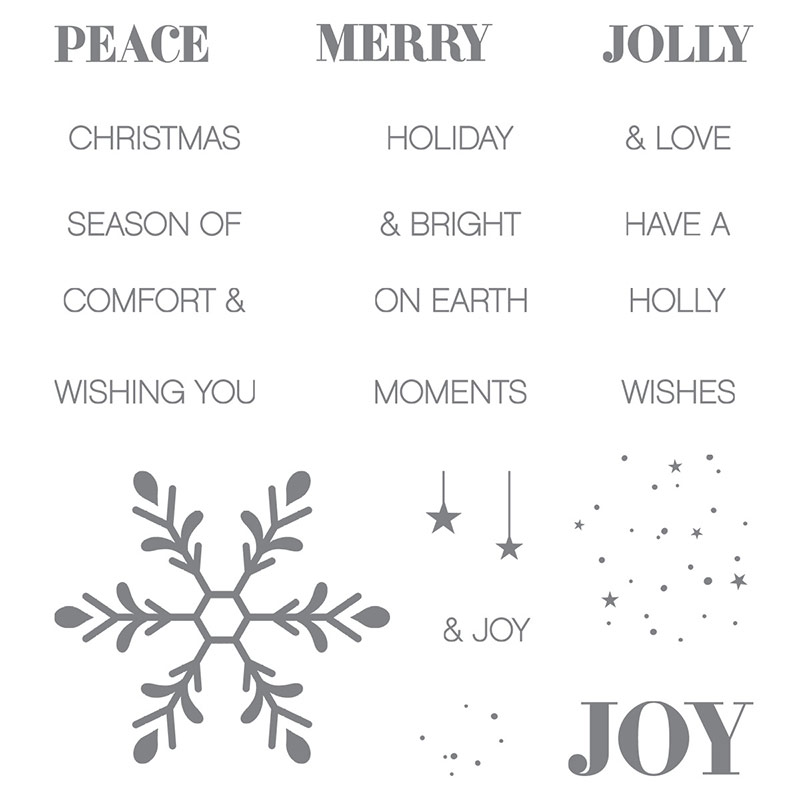 Holly Jolly Greetings stamp set, Stampin' Up!