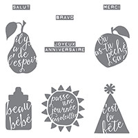 Silhouettes en script Clear-Mount Stamp Set (French) by Stampin' Up!