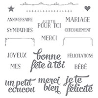 Coffret de souhaits Photopolymer Stamp Set (French) by Stampin' Up!