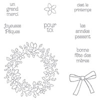 Cercle printanier Photopolymer Stamp Set (French) by Stampin' Up!