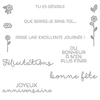 Souhaits champêtres Clear-Mount Stamp Set (French) by Stampin' Up!