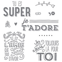 En toute amitié Clear-Mount Stamp Set (French) by Stampin' Up!