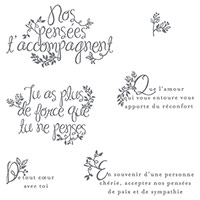 Des adieux du fond du cœur Photopolymer Stamp Set (French) by Stampin' Up!