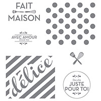 Fait maison juste pour toi Clear-Mount Stamp (French) by Stampin' Up!