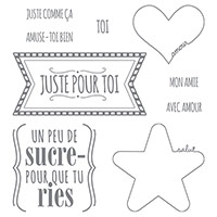 Juste comme ça Clear-Mount Stamp Set (French) by Stampin' Up!