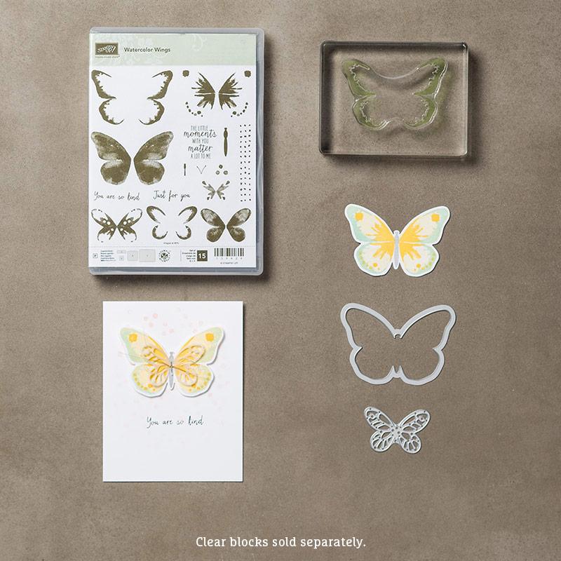 Watercolor Wings Photopolymer Bundle