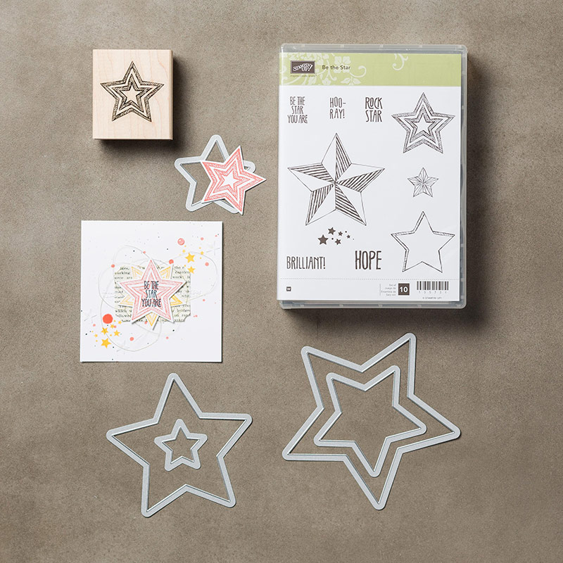 Be the Star Wood-Mount Bundle, Stampin' Up!