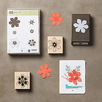 Beautiful Bunch Wood-Mount Bundle by Stampin' Up!