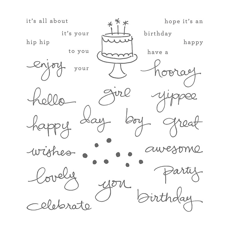 Endless Birthday Wishes stamp set, Stampin' Up!