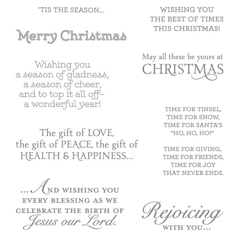 Versatile Christmas stamp set, Stampin' Up!