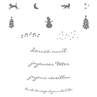 Ode à Noël Clear-Mount Stamp Set (French) by Stampin' Up!