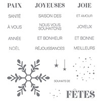 Souhaits de joie Clear-Mount Stamp Set (French) by Stampin' Up!