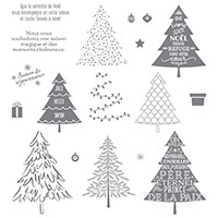 Sapins d'antan Photopolymer Stamp Set (French) by Stampin' Up!