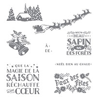Noël au chaud Clear-Mount Stamp Set (French) by Stampin' Up!
